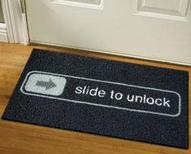 Unlock Doormat - iOS Home screen