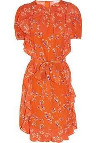 See by Chloé | Ruffled printed crepe dress | NET-A-PORTER.COM