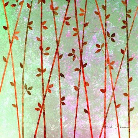 Feng Shui Cane Red Art Prints by Herb Dickinson - Shop Canvas and...