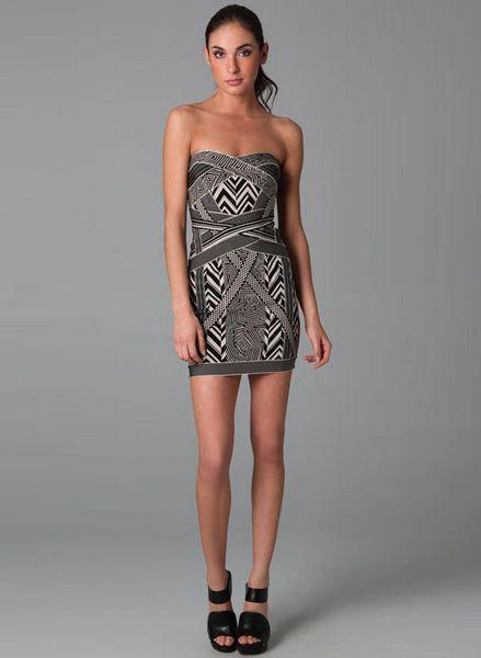 Herve Leger Geometric Dress