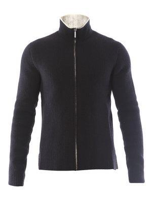 Balenciaga Constrast zip-up cardigan
