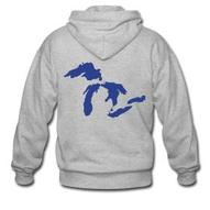 Just Michigan Men's Zipper Hoodie | downwithdetroit
