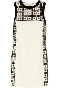 Denise embroidered wool-blend dress