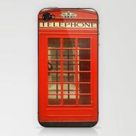 Red Telephone Box Phone Skin by Laura Ruth | Society6