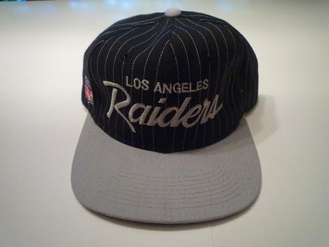 Los Angeles Raiders Pinstripe Script Snapback