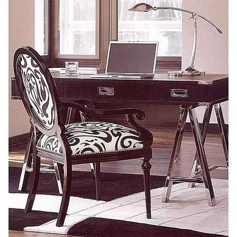 Lexington Black Ice Titanium Writing Desk