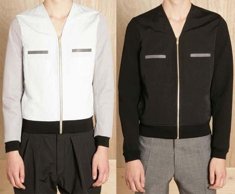 Balenciaga Collarless V-neck Jacket 