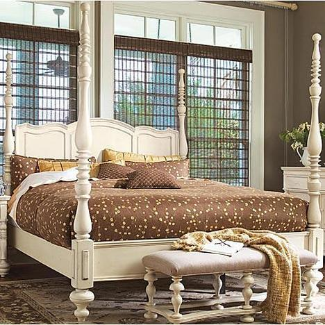 Paula Deen Linen Savannah Queen Poster Bed