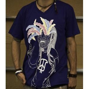 """Peace Lightnin"" Me.Glad V Neck T-Shirt %u2013 inthesnap"