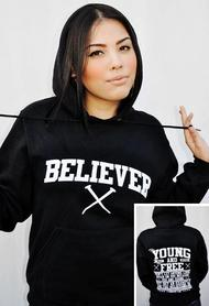 BLACK-BELIEVER/YOUNG AND FREE-UNISEX HOODIE