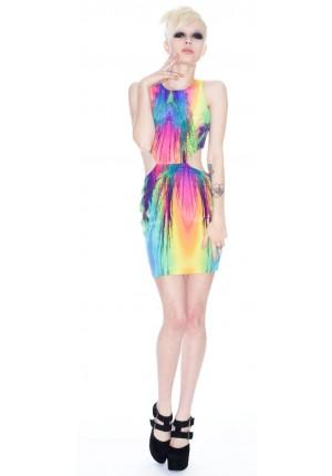 Naven Carnival Cut Out Dress | Dolls Kill