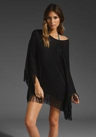 L*SPACE Ava Beach Poncho in Black at Revolve Clothing - Free Shi...