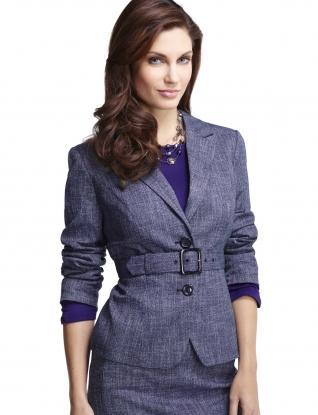 Jackets for Women: Belted Crosshatch Jacket: The Limited