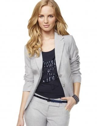 Jackets for Women: Crosshatch Plainweave Jacket: The Limited