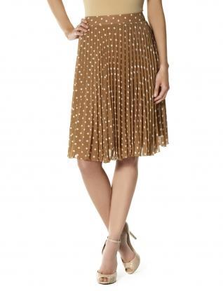 Skirts for Women: Dotty Pleated Skirt: The Limited