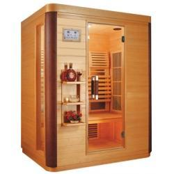Saunagen Three Person Far Infrared Sauna with Carbon panel emitt...