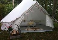 glamping canvas bell tent by strawberry hills | notonthehighstre...