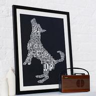 typographic dog print by betsy benn | notonthehighstreet.com