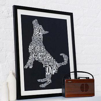 typographic dog print by betsy benn   notonthehighstreet.com