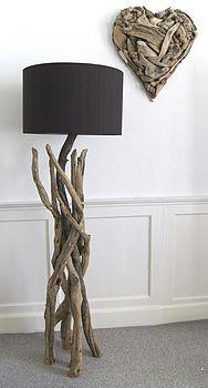 branched driftwood lamps by karen miller @ devon driftwood designs...
