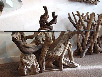 driftwood coffee table by karen miller @ devon driftwood designs...