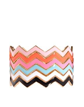 ASOS | ASOS Pack of Enamel Stack Bangles at ASOS