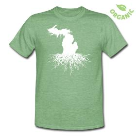 Michigan Roots Unisex Organic Lightweight Heather T-Shirt | down...