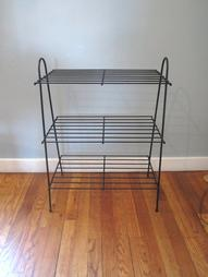 Mid Century Metal Shelf Stand by lmlois on Etsy