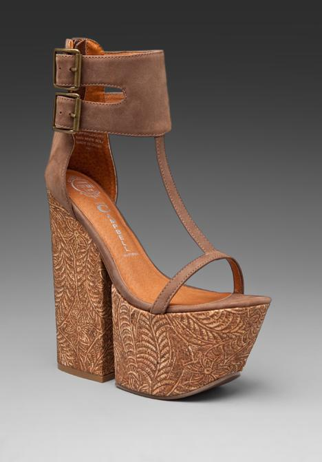 JEFFREY CAMPBELL Leimomi in Brown Suede at Revolve Clothing - Free...