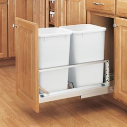 "Rev-A-Shelf ""Premiere"" Double Bin Pull-Out Waste Containers - 54..."