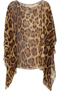 Michael Kors|Leopard-print silk-chiffon top|NET-A-PORTER.COM...
