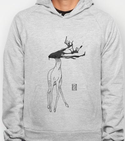 Deer Oh Deer Hoody by Andrew Henry | Society6