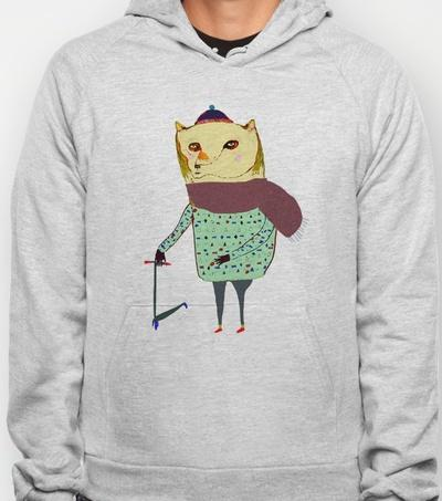 Scooter Bear Hoody by Ashley Percival | Society6