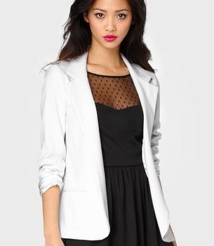 FredFlare.com - White Hot Boyfriend Blazer - Shop Necessary Objects...