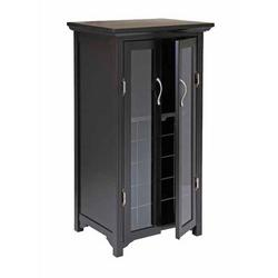 Wine Cabinet - Winsome Wood Espresso Wine Storage Cabinet for 20...