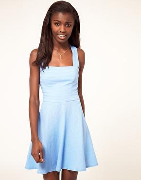 ASOS | ASOS Skater Dress In Linen at ASOS
