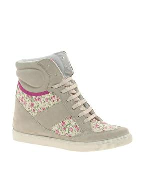 ASOS | ASOS DENY Wedge High Top Sneakers With Suede Detail at AS...