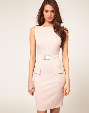 ASOS | ASOS Pencil Dress With Belt at ASOS