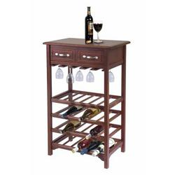 Wine Rack - Winsome Wood Wine Rack w/ 24 Bottle Capacity & 2 Drawers...