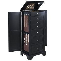Home-Furnishings - Bedford Lingerie/Jewelry Cabinet - Ebony Finish...