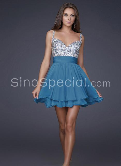 Amazing A-line Straps Chiffon Cocktail Dress with Beadings-SinoS...