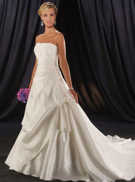 Stunning White A-line Strapless Neckline Wedding Dress-SinoSpeci...