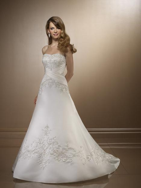 Tempting White A-line Scoop Neckline Wedding Dress-SinoSpecial.c...