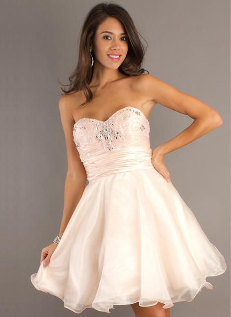 Ivory A-line Sweetheart Beadings Organza Graduation Dress -SinoS...