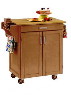 Kitchen Carts - Mix and Match Dark Cottage Oak Stain Cuisine Cabinet...