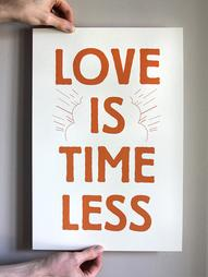 Love Is Timeless Print 12x18 by DapperPaper on Etsy