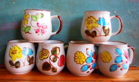 Set of 6 1960s Ceramic Mugs by VintageChichibean on Etsy