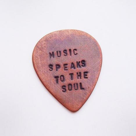 Personalized Copper Guitar Pick Custom Hand by maybugdesign
