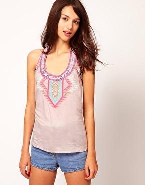 Warehouse | Warehouse Aztec Embroidered Tank at ASOS