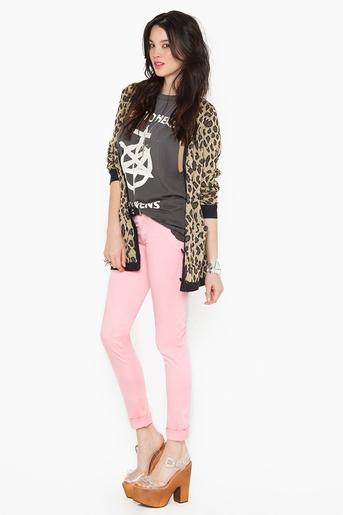 Zip Low Jeans - Pink in Clothes at Nasty Gal